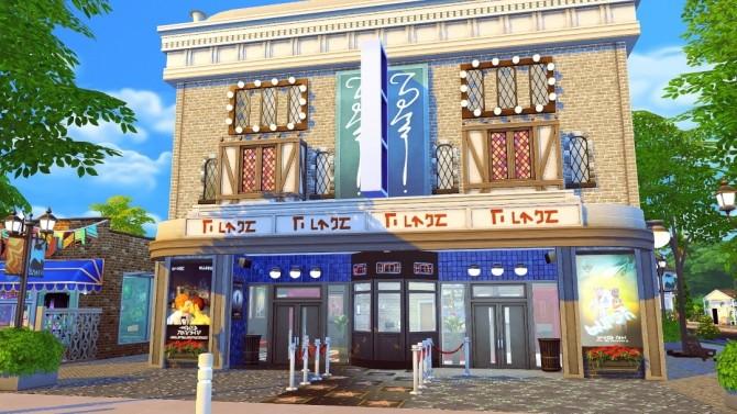 Sims 4 Midtown Cinema & Arcade at Jenba Sims