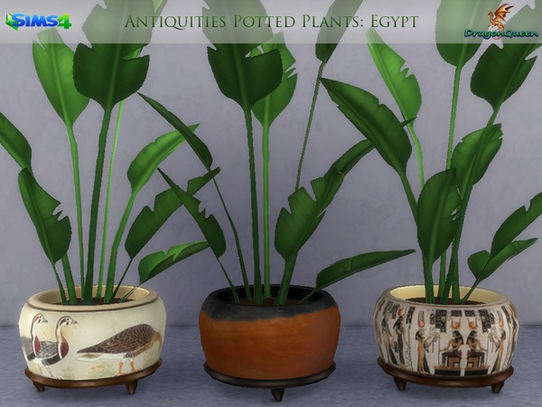 Egypt Antiquities Potted Plants by DragonQueen at TSR image 2111 Sims 4 Updates