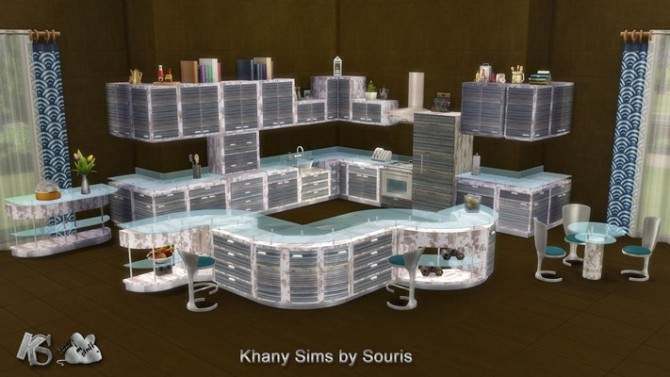 Gaby kitchen by Souris at Khany Sims image 2141 670x377 Sims 4 Updates