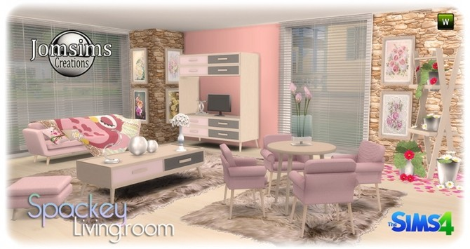 Spackey livingroom at Jomsims Creations image 215 670x355 Sims 4 Updates