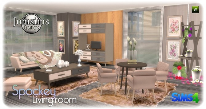 Spackey livingroom at Jomsims Creations image 217 670x355 Sims 4 Updates