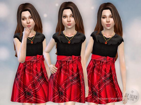 Holiday Dress P3 by lillka at TSR image 218 Sims 4 Updates