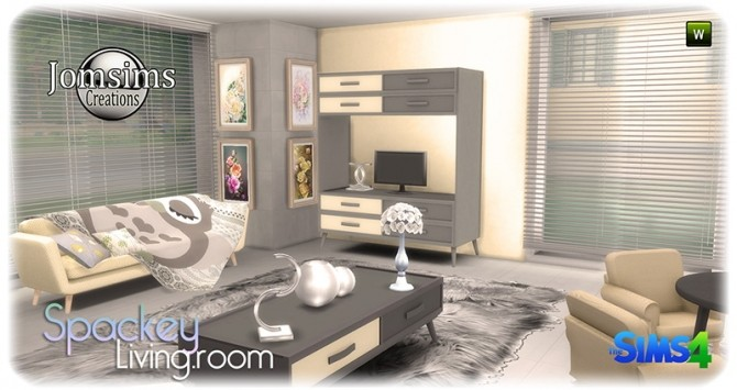 Spackey livingroom at Jomsims Creations image 219 670x355 Sims 4 Updates