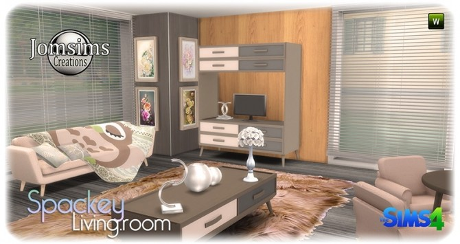 Spackey livingroom at Jomsims Creations image 220 670x355 Sims 4 Updates