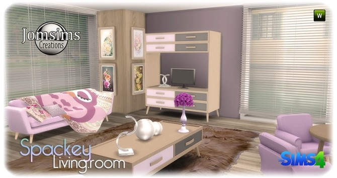 Spackey livingroom at Jomsims Creations image 221 670x355 Sims 4 Updates