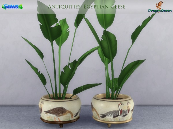 Egypt Antiquities Potted Plants by DragonQueen at TSR image 2210 Sims 4 Updates