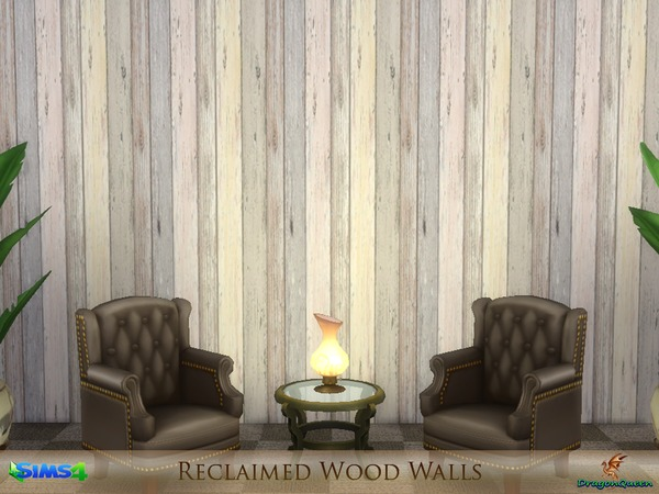 Reclaimed Wood Walls by DragonQueen at TSR image 2214 Sims 4 Updates