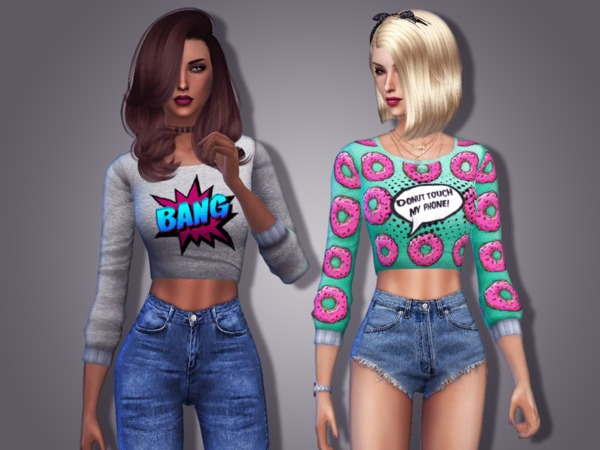 Pop Art Sweater by DELTΔ at TSR image 2218 Sims 4 Updates