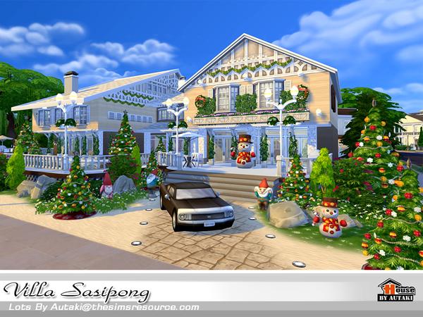 Sims 4 Villa Sasipong by autaki at TSR
