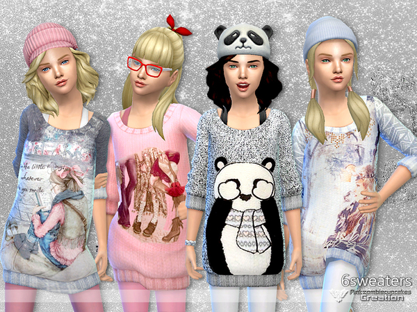 Winter Snowflakes Sweater Collection by Pinkzombiecupcakes at TSR image 2227 Sims 4 Updates