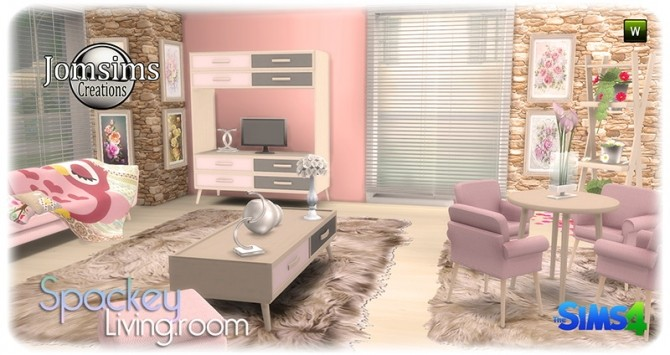 Spackey livingroom at Jomsims Creations image 223 670x355 Sims 4 Updates