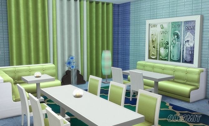 Restaurant Set at OleSims image 231 670x403 Sims 4 Updates