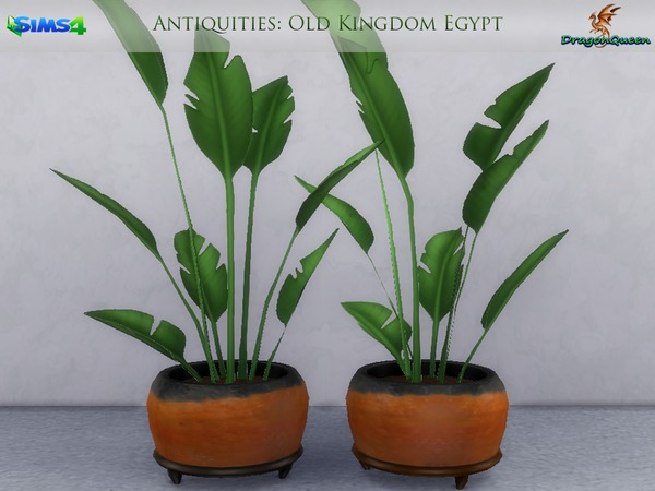 Egypt Antiquities Potted Plants by DragonQueen at TSR image 2311 Sims 4 Updates