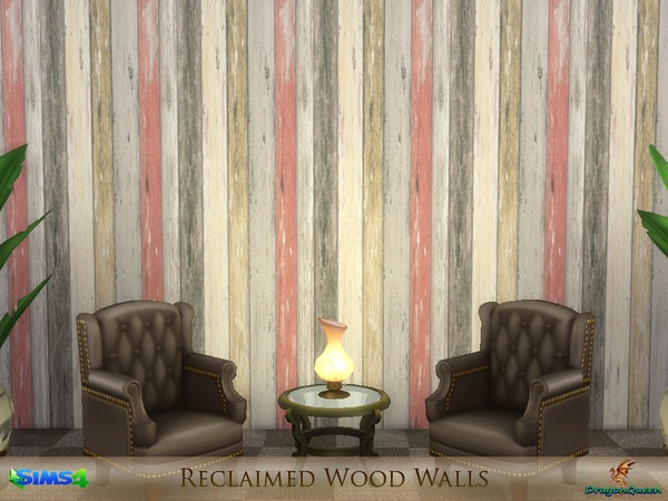 Reclaimed Wood Walls by DragonQueen at TSR image 2315 Sims 4 Updates