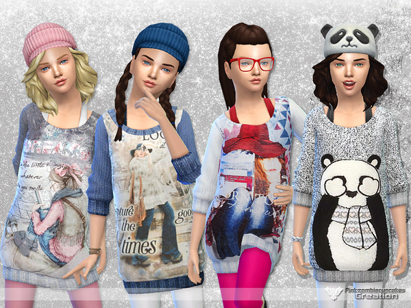 Winter Snowflakes Sweater Collection by Pinkzombiecupcakes at TSR image 2328 Sims 4 Updates