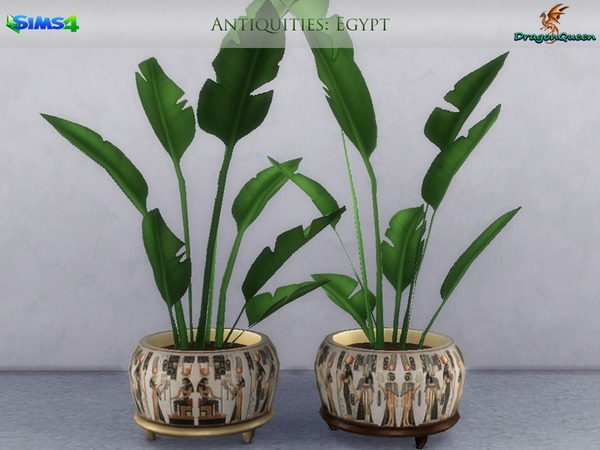 Egypt Antiquities Potted Plants by DragonQueen at TSR image 2411 Sims 4 Updates