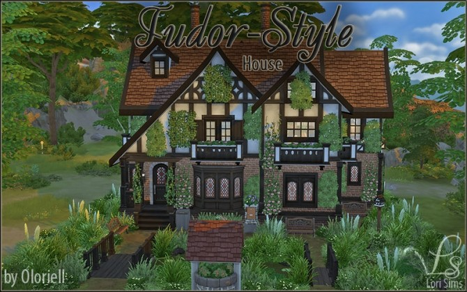 Sims 4 Tudor Style House (no CC) by Oloriell at Mod The Sims