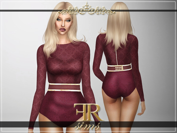 Heartbreaker Bodysuit by FashionRoyaltySims at TSR image 2524 Sims 4 Updates