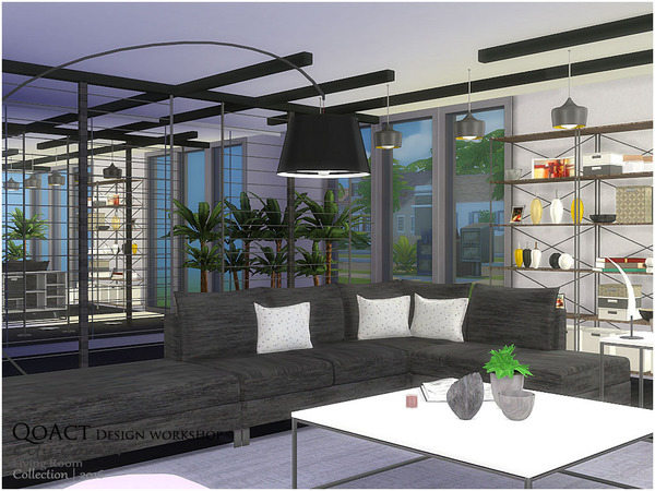 City Corner Living Room by QoAct at TSR image 2616 Sims 4 Updates