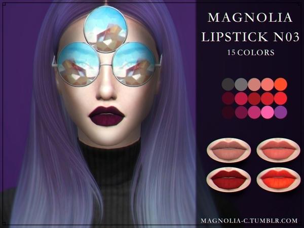 Sims 4 Lipstick 03 by magnolia c at TSR