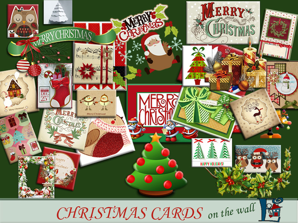 Christmas cards on the wall by evi at TSR image 2620 Sims 4 Updates