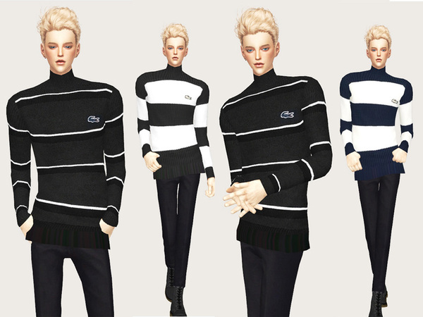 Sims 4 Male sweater by Meeyou x at TSR