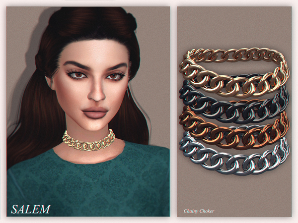 Sims 4 Chainy Choker by Salem C. at TSR