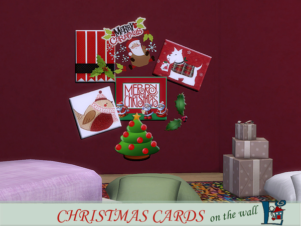 Christmas cards on the wall by evi at TSR image 2719 Sims 4 Updates