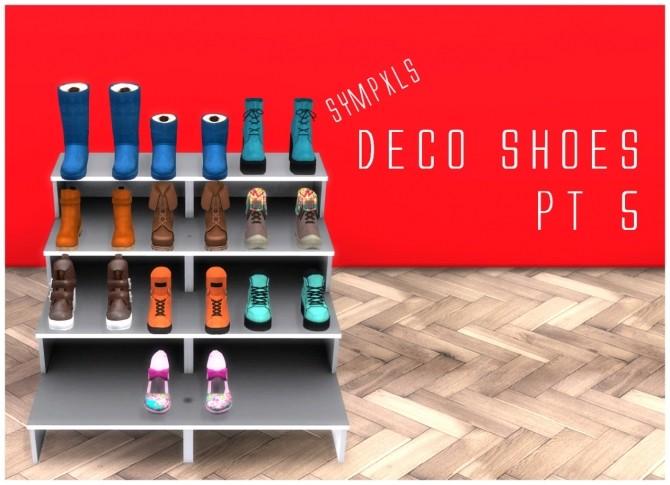 Deco shoes pt 5 by sympxls at simsworkshop sims 4 updates for Deco appartement sims 4