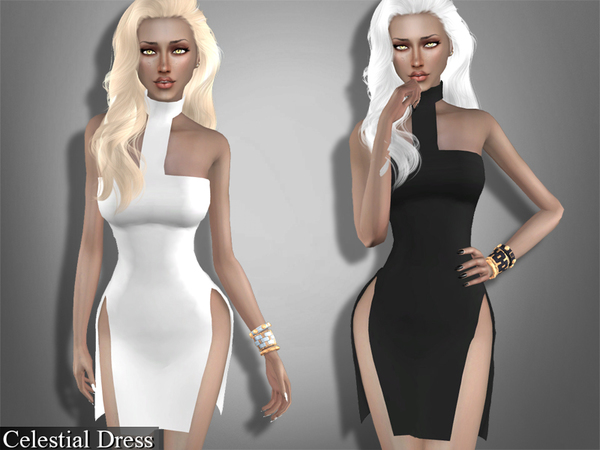Sims 4 Celestial Dress by Genius666 at TSR