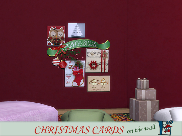 Christmas cards on the wall by evi at TSR image 2920 Sims 4 Updates