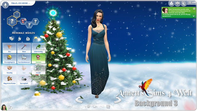 Sims 4 CAS Backgrounds Christmas 2016 at Annett's Sims 4 Welt