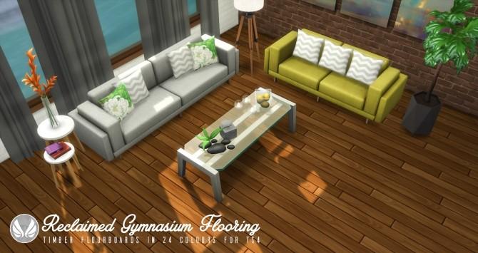Reclaimed Gymnasium Flooring at Simsational Designs image 301 670x355 Sims 4 Updates