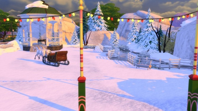 Sims 4 Winters Dream Park and Ice Cave by Snowhaze at Mod The Sims