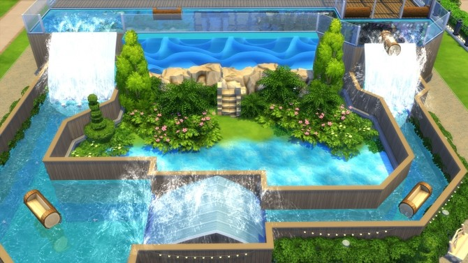 Sims 4 Log Falls Park by Snowhaze at Mod The Sims