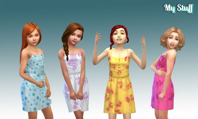 Sun Dress with Buttons at My Stuff image 303 670x402 Sims 4 Updates