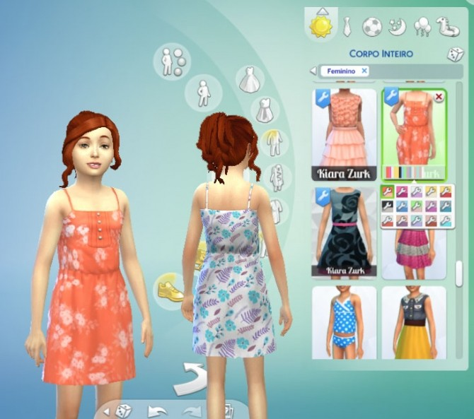Sun Dress with Buttons at My Stuff image 305 670x593 Sims 4 Updates