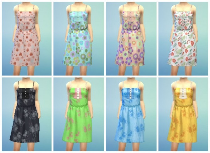 Sun Dress with Buttons at My Stuff image 306 670x489 Sims 4 Updates