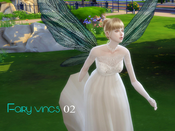 Sims 4 Fairy wings 02 by S Club LL at TSR