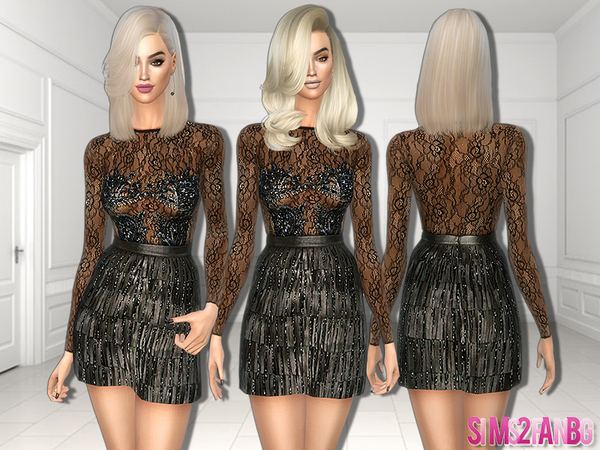 Sims 4 274 Party dress by sims2fanbg at TSR