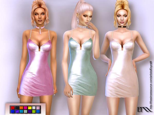 Sims 4 Hardest Walk Plunging Dress by EsyraM at TSR