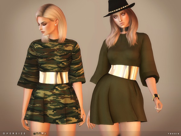Oversize Dress By Toksik At Tsr Sims 4 Updates