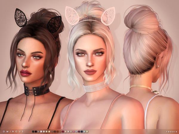 Sims 4 Ominous Hair by toksik at TSR