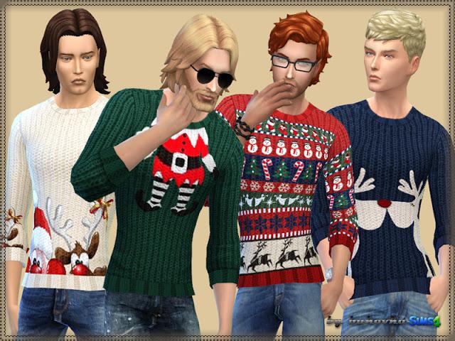 Sims 4 Merry Christmas Sweater at Bukovka