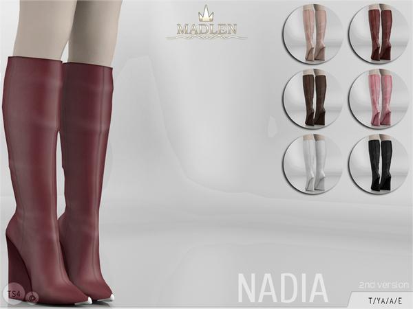 Sims 4 Madlen Nadia Boots Longer Version by MJ95 at TSR