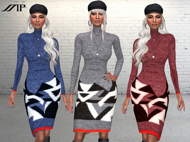 Sims 4 MP Design Wool Dress at BTB Sims – MartyP