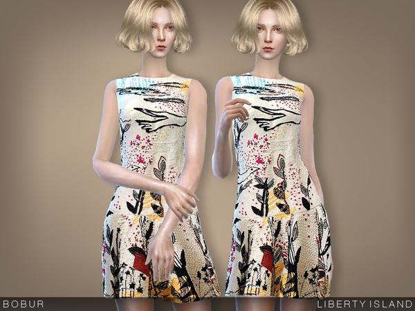 Sims 4 Liberty island dress by Bobur3 at TSR