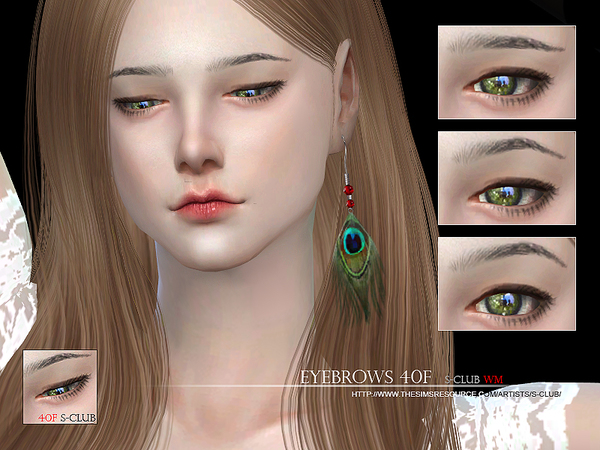 Eyebrows 40F by S Club WM at TSR image 356 Sims 4 Updates