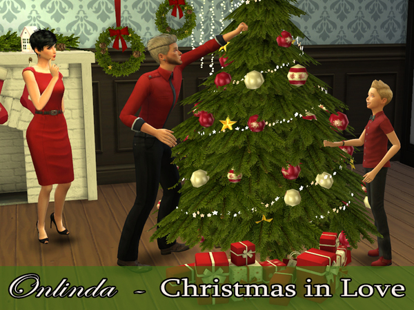 Sims 4 Christmas in Love Pose Pack by StefaniaOnlinda at TSR