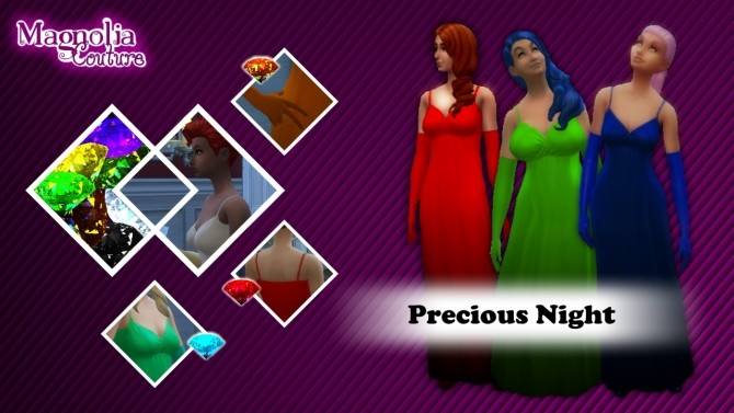 Jewel Colored Formal Dresses, Gloves and Heels by JPatchZ at Mod The Sims image 3720 670x377 Sims 4 Updates